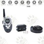 Dog training model:07 (Електронен тренировъчен нашийник за дресура- комплект + дистанционно, LCD дисплей, вибрация, звук, ток, 750 метра- водоустойчив- презареждащ )