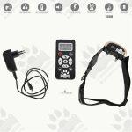 Dog training model:09 (Електронен тренировъчен нашийник за дресура- комплект + дистанционно, Функция против лай, LCD дисплей, вибрация, звук, ток, 730 метра-презареждащ )