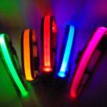 Светещ LED нашийник (каишка) с презареждаща се батерия